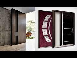 wooden door design with glass home