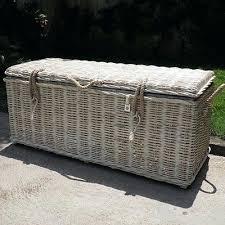 wicker storage bench key largo wicker storage bench with cushions outdoor wicker storage bench with cushion