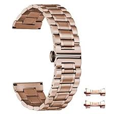 Luxury <b>16mm Watch Band</b> Rose Gold <b>Metal Watch Bands</b> for Men ...