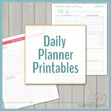 Daily Planner Sheets Daily Planner Printables Personal Planner