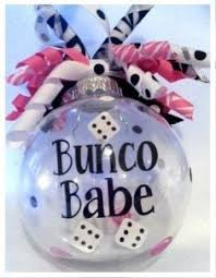 bunco ornament with ribbon by koozieq on etsy 10 00