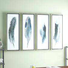 framed art set feathered beauty prints 4 piece framed graphic art set framed wall art sets