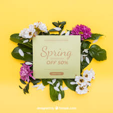 Free Spring Spring Mockup With Card Psd File Free Download