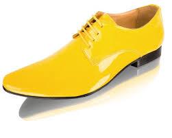 dobell yellow patent contemporary tuxedo shoes
