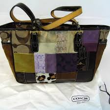 Coach Eva Patchwork Satchel Tote Purse Handbag