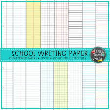 Back To School Digital Paper Elementary Writing Lined Notebook Graph Paper