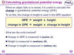 23 calculating gravitational potential energy
