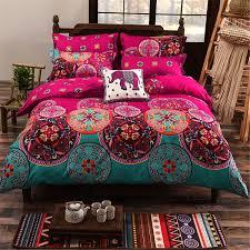 4Pcs Oriental Mandala Polyester Single Double Queen Size Bedding ... & 4Pcs Oriental Mandala Polyester Single Double Queen Size Bedding  Pillowcases Quilt Duvet Cover Set Adamdwight.com