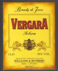 etiqueta de brandy. vergara. solera. - Buy Old Labels at ...