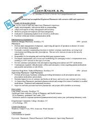 Resumes Pharmacist Resume Sample Cv Pdf Pharmacy Assistant Example
