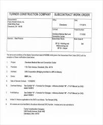 construction work order format fine construction work order template motif resume ideas