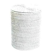 outdoor wicker trash bin can with lid wastebasket waste basket recycle dust box cover black wicker outdoor trash can