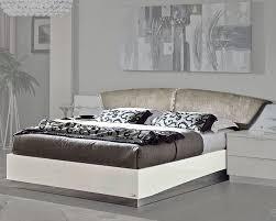 White modern platform bed Japanese Style Home Furniture Mart Modern Platform Bed Onda In White Color 33140on