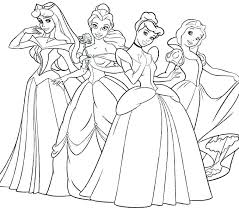 Disney Princess Pictures To Color And Print Free Printable Princess