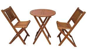merry garden acacia bistro table and chair set