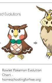 D Evolutions Rowlet Pokemon Evolution Chart