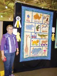 Two Material Girls win ribbons at the Tucson Quilt Show - Robson ... & Jackie Marshall with both of her third place ribbons at the Tucson Quilt  Show Adamdwight.com