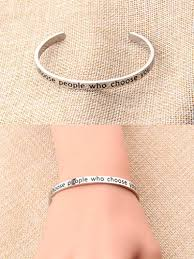 amazon feelmem inspirational bracelet choose people who choose you cuff bangle confidence jewelry best friend encouragement gifts who choose you toys