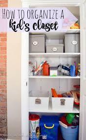Simple closet ideas for kids Walk Kenarry How To Organize Your Kids Closet