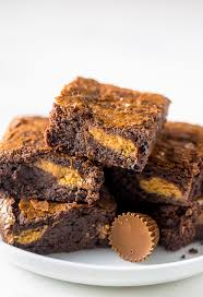peanut butter cup brownies. Wonderful Peanut Rich And FUDGY Peanut Butter Cup Brownies With Brownies W