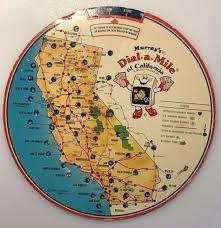 Interstate Mileage Chart Murrays Dial A Mile Map Of California Mileage Calculator