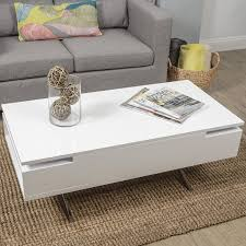 Amazon Com Mix High Gloss Lacquer Wood Stainless Steel Legs White