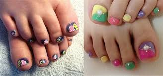 Cute Pedicure Designs French Foot Nail Art