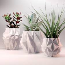 coffee table planters cute white