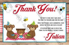 Novel Concept Designs Teddy Bear Picnic Birthday Party Invitation