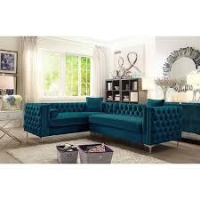velvet tufted sectional. Beautiful Velvet Chic Home Susan Elegant Velvet Tufted Left Facing Sectional Sofa For L