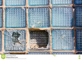 Broken Square Of Glass In A Window Box Stock Image Image