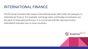 finance assignment help international finance