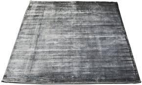 handwoven contemporary silk rug grey massimo bamboo 140 x 200