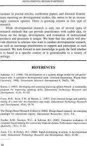 Design And Development Research Developmental Research Methods Creating Knowledge From