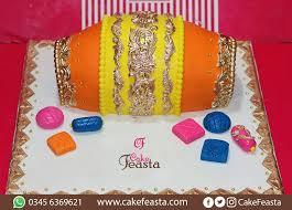 Yellow Orange Wedding Cake Marriage Anniversary Cakes