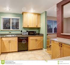 Light Wood Kitchen American Light Wood Kitchen Interior Stock Photo Image 57329538