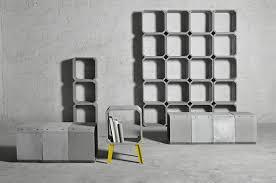 cement furniture. zhi and kou modular cement furniture by bentu design a