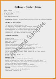 Childcare Resume Sample Resume For Child Care Assistant With No Experience Resumes 29