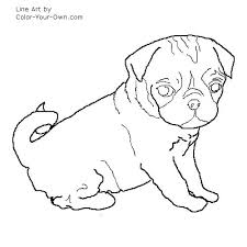 Pug Coloring Pages Pug Coloring Pages Free Pug Dog Coloring Pages