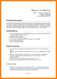 Nanny Resume Samples Example Of A Good Nanny Resume Resume