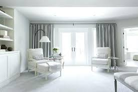bedroom curtain ideas white and grey sitting area transitional curtains large windows