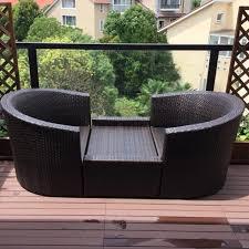 china 3 pieces patio set outdoor wicker