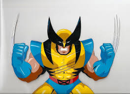 wolverine cel claws ready x men the animated series ic art