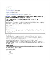 Sample Bid Proposal Template Sample Bid Proposal Template 12 Free Documents In Pdf Word