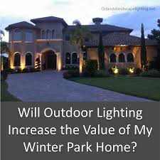 custom landscape lighting ideas. Outdoor Lighting Increase Value Winter Park Home Custom Landscape Ideas G