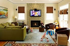 living room with tv over fireplace. The Pros And Cons Of Having A TV Over Fireplace Living Room With Tv E