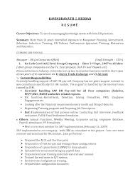 Human Resources Resume Objective Examples Examples Of Resumes