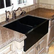 stainless a sink brown black