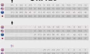 J12 Shoe Size Chart 40 Detailed Vibram Shoes Sizing Chart
