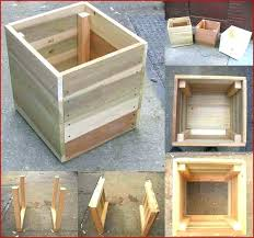wood planters box build wooden planter box best of square plans for free how to make